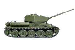 Soviet tank T34. Plastic model of the Soviet T-34 tank Royalty Free Stock Image