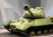 Soviet tank T 34. 85 of the Second World War in the museum. Sharpness on the gun Royalty Free Stock Image