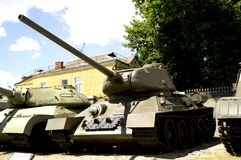 Soviet tank T-34 of World War II. Museum in Gomel. Belarus Royalty Free Stock Image