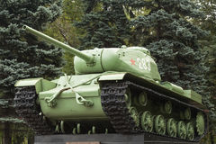Soviet tank from WWII period Stock Photos