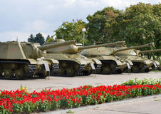 Soviet tanks of wwii Royalty Free Stock Image