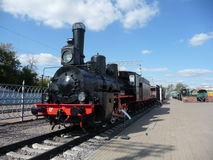 Soviet train at  Rizhskaya  Railway Museum in Moscow Royalty Free Stock Image