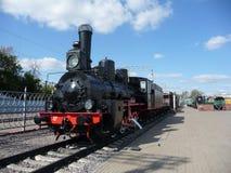 Soviet train at  Rizhskaya  Railway Museum in Moscow Royalty Free Stock Image
