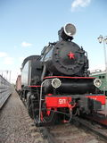 Soviet train at  Rizhskaya  Railway Museum in Moscow Stock Photography