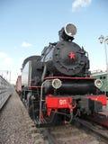 Soviet train at  Rizhskaya  Railway Museum in Moscow Stock Photography