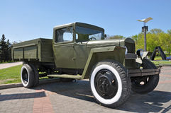 Soviet truck of times of World War II. donetsk exhibition Royalty Free Stock Image