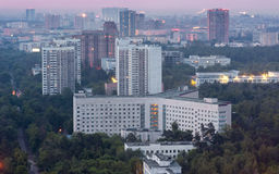 Soviet typical of social and residential buildings, top view Stock Photos