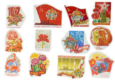 Soviet Union banners set Royalty Free Stock Photography