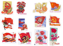 Soviet Union banners set Stock Images