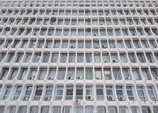 Soviet Union building facade in Rostov-on-Don. Russia Stock Image