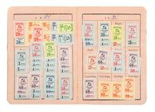 Soviet union card Stock Image