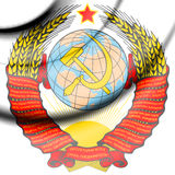 Soviet Union coat of arms. 3d Rendered Soviet Union coat of arms Royalty Free Stock Images