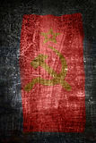 Soviet union flag. Grunge background. With scratches and abrassions Royalty Free Stock Photos