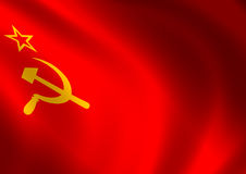 Soviet union flag Stock Photos
