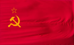 Soviet Union flag Royalty Free Stock Photography