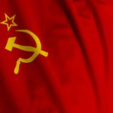 Soviet Union Flag Closeup Royalty Free Stock Photo