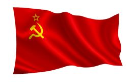 Soviet Union flag USSR. A series of `Flags of the world.` royalty free stock photography