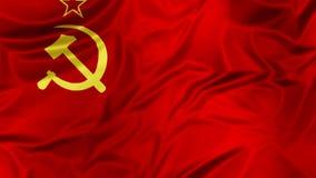 Soviet Union Flag waving stock footage