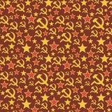 Soviet Union seamless pattern. Stock Photography