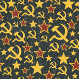 Soviet Union signs pattern Royalty Free Stock Photography