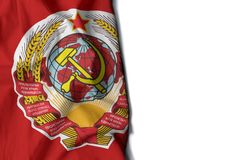 Soviet Union wrinkled flag, space for text Stock Images
