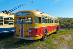 Soviet vintage bus ZIS-154. On the festival of vintage cars, St. Petersburg, Kronstadt, September 6, 2015 Royalty Free Stock Photography