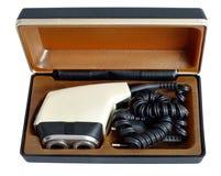 Soviet vintage electric razor in a case Stock Photos