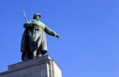 Soviet War Memorial in Berlin. Statue at the Soviet/Russian War Memorial in Berlin's Tiergarten Stock Images