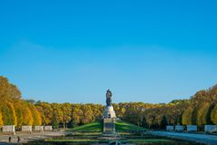 The Soviet War Memorial  in Berlin`s Treptower Park. Berlin, Germany - october 2017: The Soviet War Memorial  in Berlin`s Treptower Park Stock Images