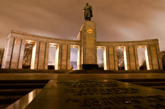 Soviet War Memorial in Berlin Tiergarten Stock Images