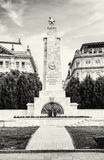Soviet war memorial in Budapest, Hungary, black and white Stock Photography
