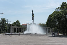 Soviet War Memorial and Fountain in Vienna, Austria Stock Photography