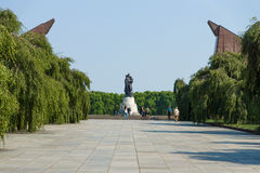 The Soviet War Memorial in Treptow Park. Stock Photo
