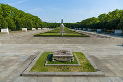 The Soviet War Memorial in Treptow Park Stock Image