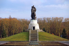 Soviet War Memorial in Treptower park in Berlin Royalty Free Stock Photo