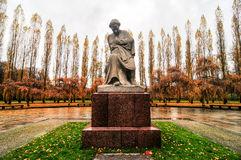 Soviet War Memorial in Treptower Park, Berlin, Germany Panorama. Berlin, Germany - November 6, 2010: Soviet War Memorial commemorate the Battle of Berlin in 1945 Stock Photography