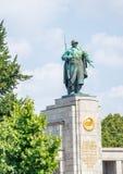 Soviet War Memorial in Treptower Park at sunrise, Berlin, German. Y Royalty Free Stock Image