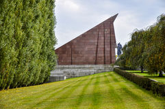 The Soviet War Memorial. Is a vast war memorial and military cemetery in Berlin`s Treptower Park. It was built to the design of the Soviet architect Yakov Royalty Free Stock Photo
