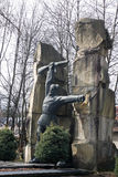 Soviet war monument partisans Royalty Free Stock Photo