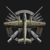 Soviet ww2 plane. Illustration of  Soviet ww2 plane Royalty Free Stock Image