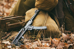 Soviet WW2 weapon of infantry. Submachine Gun PPS Stock Photography