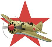 Soviet WW2 airplane Stock Images