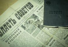 ` Sovietico di autorità del ` sovietico del giornale Fotografia Stock Libera da Diritti