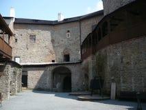 Sovinec城堡在捷克的Jiříkov 免版税图库摄影