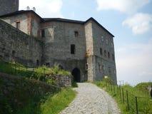 Sovinec城堡在捷克的Jiříkov 库存图片