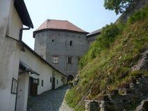Sovinec城堡在捷克的Jiříkov 免版税库存图片