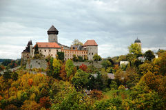 Sovinec Castle in northern Moravia. Sovinec Castle of the holy order of knights  in Northern Moravia in the autumn garb Stock Photo