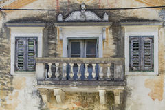 Sovinjak in Istria. Detailed view of a magnificent villa in the small village Sovinjak in Istria royalty free stock photo