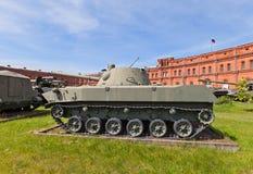Sovjet amfibische gemotoriseerde 120 mm mortier2s9 nona-s Royalty-vrije Stock Foto's