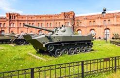 Sovjet amfibische gemotoriseerde 120 mm mortier2s9 nona-s Stock Foto